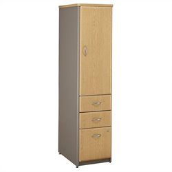 Bush BBF Series A Vertical Locker in Light Oak