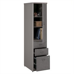 Bush Business Furniture Series A Vertical Locker in Pewter
