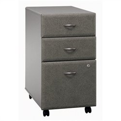 Bush Business Furniture Series A 3Dwr Mobile Pedestal in Pewter