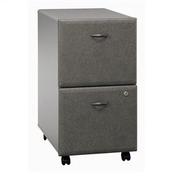 Bush BBF Series A 2Dwr Mobile Pedestal in Pewter