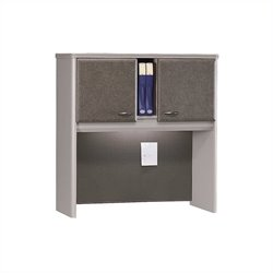 Bush Business Furniture Series A 36W Hutch in Pewter