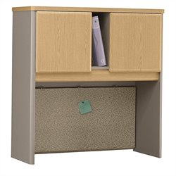 Bush Business Furniture Series A 36W Hutch in Light Oak