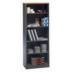 Bush BBF Series A 26W 5-Shelf Bookcase in Natural Cherry