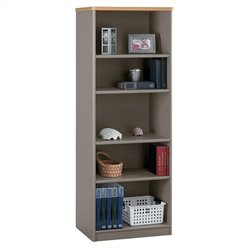 Bush Business Furniture Series A 26W 5-Shelf Bookcase in Light Oak