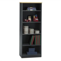 Bush Business Series A 26W 5-Shelf Bookcase in Beech