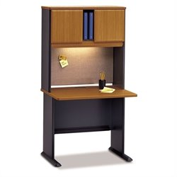 Bush BBF Series A Natural Cherry Office Cubicle
