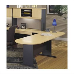 Bush Business Series A 4-Piece L-Shape Peninsula Desk Set in Beech