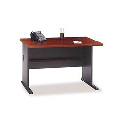 Bush BBF Series A Corner Desk with Hutch in Hansen Cherry