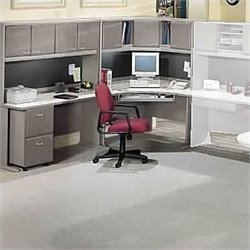 Bush BBF Series A Corner Desk with Hutch in White Spectrum and Pewter