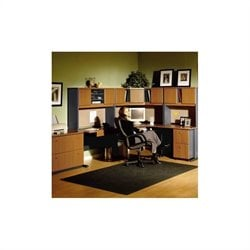 Bush BBF A-Series Right L-Shape Office Suite in Natural Cherry and Slate