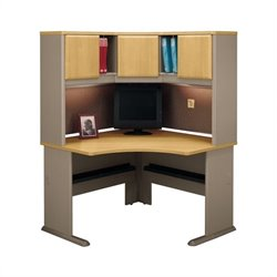 Bush BBF Series A Wood Corner Desk in Light Oak