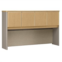 Bush Business Furniture Series A 60W Hutch in Light Oak