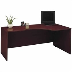Bush BBF Series C 3-Piece L-Shape Desk with Hutch Set in Mahogany