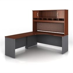 Bush BBF Series C 3-Piece Left-Hand Corner Computer Desk in Hansen Cherry