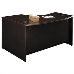 Bush BBF Series C 60W x 43D RH L-Bow Desk Shell in Mocha Cherry