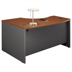 Bush Business Furniture Series C 60x43 RH L-Bow Desk in Auburn Maple