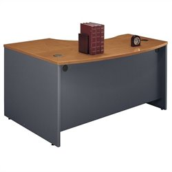 Bush BBF Series C 60W x 43D RH L-Bow Desk Shell in Natural Cherry