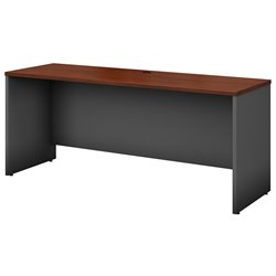 Bush BBF Series C 72W Corner Credenza Computer Desk in Hansen Cherry