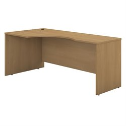 Bush Business Furniture Series C 72W LH Corner Module in Light Oak