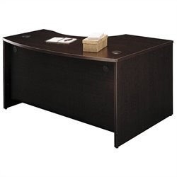 Bush Business Furniture Series C 60x43 LH L-Bow Desk in Mocha Cherry