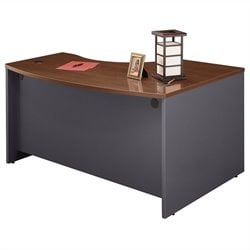 Bush BBF Series C 60W x 43D LH L-Bow Desk Shell in Hansen Cherry
