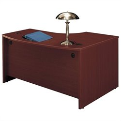 Bush BBF Series C 60W x 43D LH L-Bow Desk Shell in Mahogany