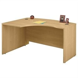 Bush BBF Series C 60W x 43D LH L-Bow Desk Shell in Light Oak