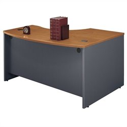 Bush BBF Series C 60W x 43D LH L-Bow Desk Shell in Natural Cherry
