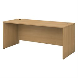 Bush Business Furniture Series C 72W Desk Shell in Light Oak