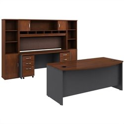 Bush BBF Series C 8-Piece Executive Desk Set in Hansen Cherry