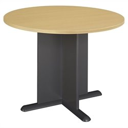 Bush BBF Round 3.4 Conference Table in Beech and Graphite Grey