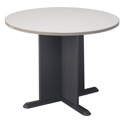 Bush Business Furniture Round 3.4 Conference Table in White Spectrum