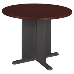 Bush Business Furniture Round 3.4 Conference Table in Mahogany