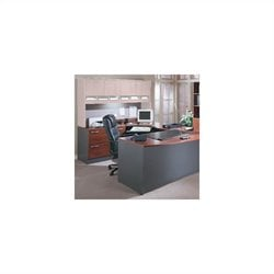 Bush BBF Series 3 Piece U-Shaped Left Corner Desk in Hansen Cherry
