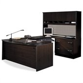 BBF Series C 4-Piece U-Shape Right-Hand Corner Desk in Mocha Cherry