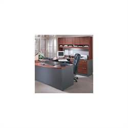 BBF Series C 4-Piece U-Shape Right-Hand Corner Desk in Hansen Cherry