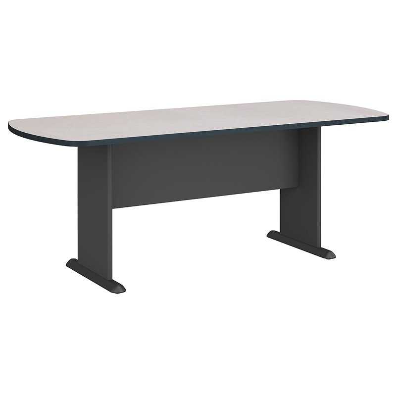 Bush Business Furniture Racetrack 6.9 Conference Table in Slate