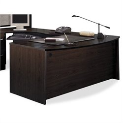 Bush Business Series C 3-Piece L-Shape Bow-Front Desk in Mocha Cherry