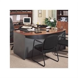Bush Business Series C Executive Left L-Shape Desk in Hansen Cherry