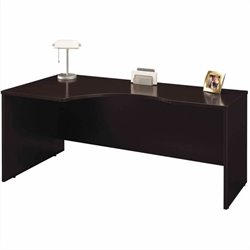 Bush BBF Series C Mocha Cherry Right L-Shaped Desk
