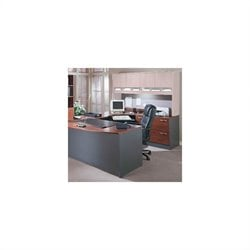 Bush BBF Series C 3-Piece U-Shape Right-Hand Corner Desk in Hansen Cherry
