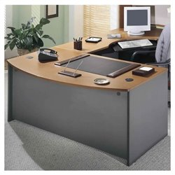 Bush Business Series C 3-Piece L-Shape Bow-Front Desk