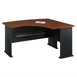 Bush Business Furniture Series A 60W x 44D RH L-Bow Desk Hansen Cherry