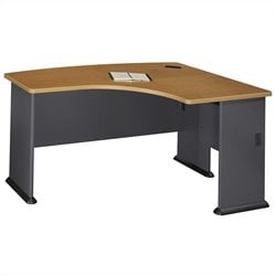 Bush Business Series A 60W x 44D RH L-Bow Desk in Natural Cherry
