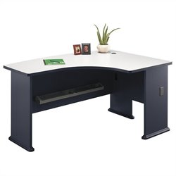 Bush Business Furniture Series A 60W x 44D RH L-Bow Desk in Slate