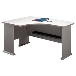 Bush Business Furniture Series A 60W x 44D LH L-Bow Desk in Pewter