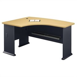 Bush Business Furniture Series A 60x44 LH L-Bow Corner Desk in Beech