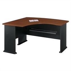 Bush Business Furniture Series A 60W x 44D LH L-Bow Desk Hansen Cherry