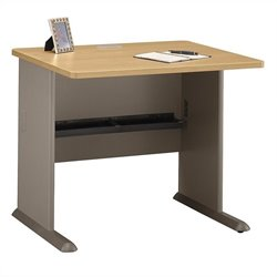Bush BBF Series A 36W Desk in Light Oak