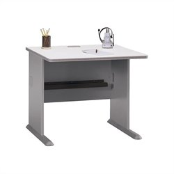 Bush Business Furniture Series A 36W Desk in Pewter